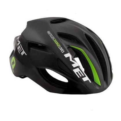 MET Rivale Black Green Team Helmet