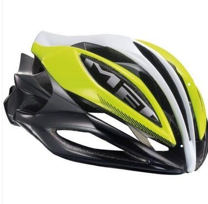 Met Sine Thesis Yellow White Black Helmet